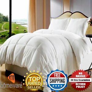 Hotel-de-lujo-calidad-gansos-Plumas-De-Pato-amp-Abajo-Edredon-Edredon-10-5-tog-Todos-los-Tamanos