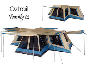Image is loading OZTRAIL-FAMILY-12-Person-4-ROOM-Dome-Family-  sc 1 st  eBay & OZTRAIL FAMILY 12 Person (4 ROOM) Dome Family Tent - Sleeps 12 | eBay