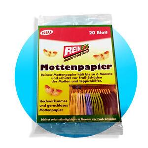 20-40-60-100-Mottenpapier-geruchlos-Mottenschutz-Kleiderschutz-Motten-Schrank