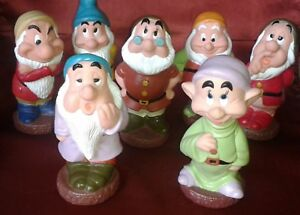 Antiguos-Siete-Enanitos-de-Goma-Disney-Seven-Dwarfs-RARE-Vintage
