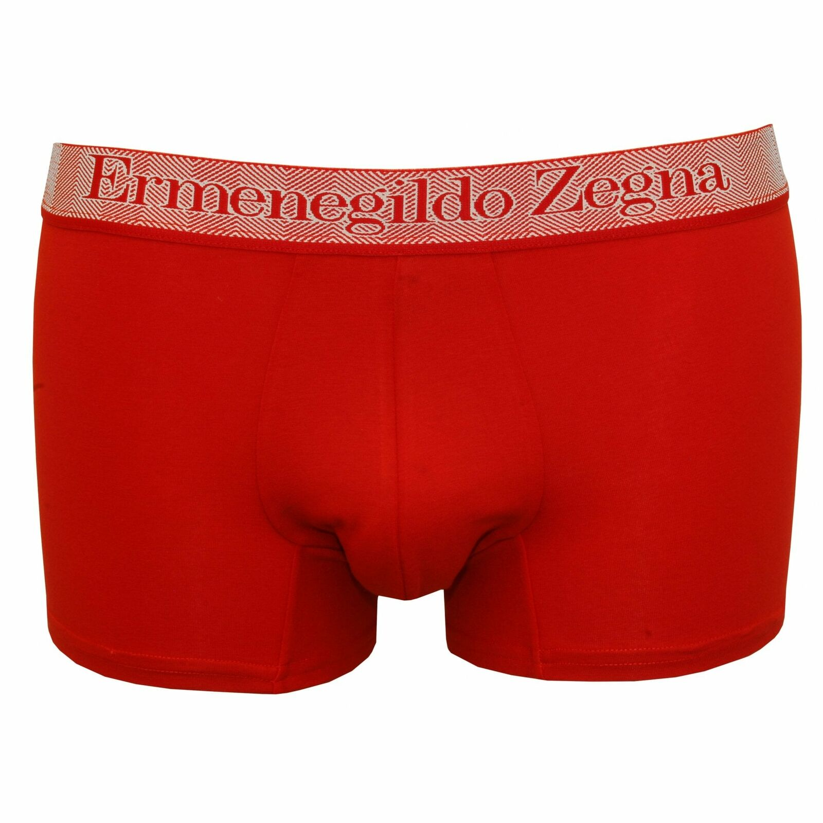 Ermenegildo Zegna Stretch Cotton Men's Boxer Trunk, Berry Red