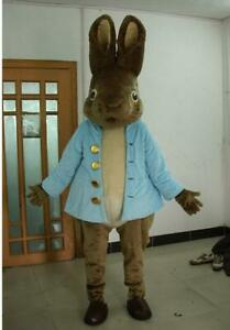 22250ee4431 Hot Easter 2019 Rabbit Mascot Costume Suits Cosplay Christmas Fancy ...