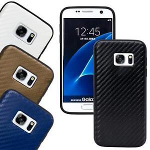Schutzhuelle-Samsung-Galaxy-Carbon-Case-Silikon-Schutz-Tasche-Cover-Handy-Huelle