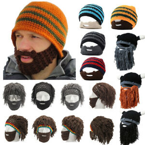 077fd769d0e Image is loading Men-Barbarian-Looter-Knit-Crochet-Beanie-Caps-Caveman-