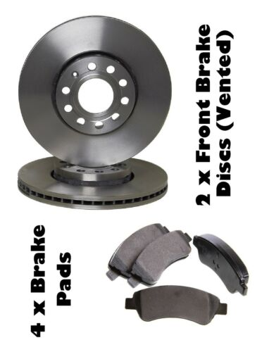 CITROEN C2 /& C3  FRONT 2 BRAKE DISCS AND 4 BRAKE PADS SET NEW