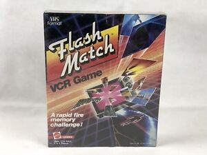 Details about NEW Flash Match VCR Game 1986 by Mattel Games VHS Format  FACTORY SEALED BOX!