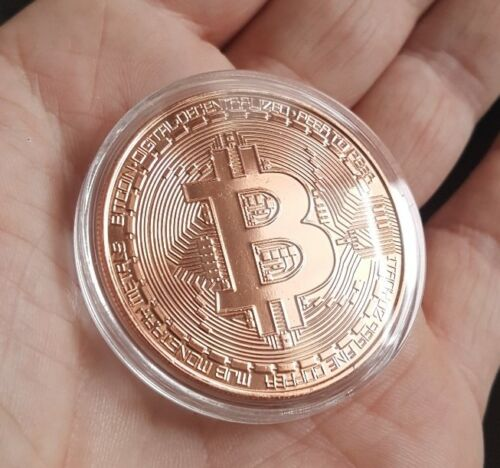 2019 FAST SHIPPING! BITCOIN 1oz Pure Copper Physical Bitcoin Proof Coin