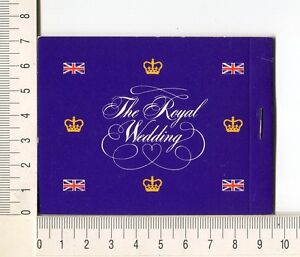41205) Australia 1981 MNH QEII 24c+60c (x4) Royal Wedding Booklet Violet Cover