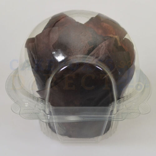 480 x LARGE MUFFIN CUPCAKE CLEAR POD FREE NEXT DAY DELIVERY