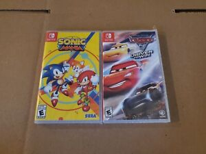 Sonic Mania + Cars 3 - Driven to Win (Nintendo Switch) New & Sealed!
