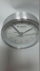 Silver-Alarm-Clock-White-Dial-9cm-Perfect-Present-Gift