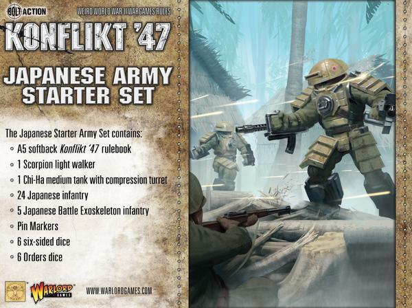 GIAPPONESE esercito SET STARTER - Konflikt '47 - Warlord Games