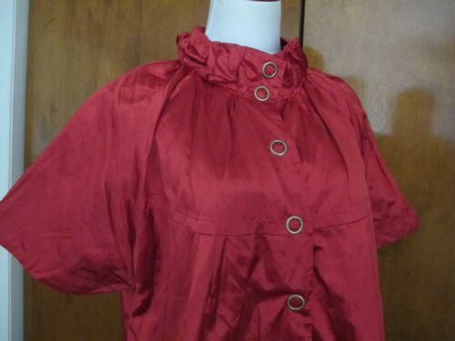 Sharagano Taille Xlarge 884148007684 Nwt Femme Veste Rouge Rayée Paris Légère 7xYpFr7q