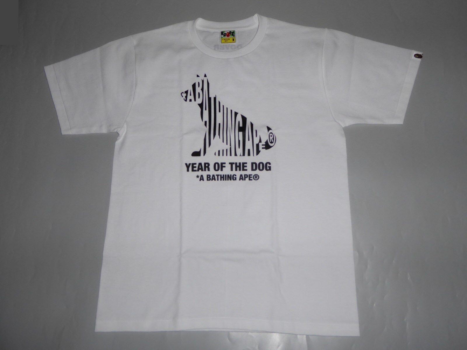 16328 bape year of the dog logo tee L