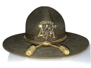 Vintage-Texas-A-amp-M-Aggies-Cadet-Corp-Hat-Size-7-Beaver-Qual-Ranger-USA-Football