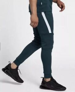 011fc498b396 Image is loading Nike-Tech-Fleece-Jogger-Pants-Green-White-Men-