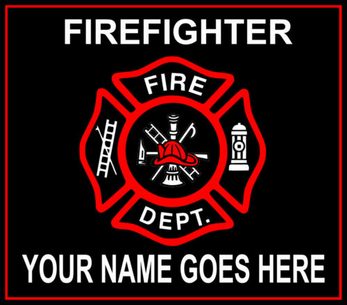 PERSONALIZED FIREFIGHTER FIREMAN FIRE DEPARTMENT FRIDGE LOCKER TOOL BOX MAGNET
