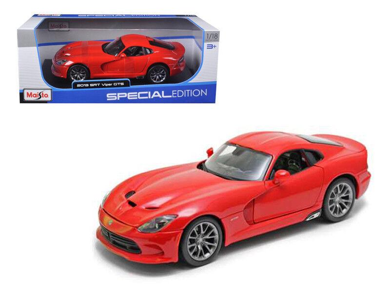 Maisto 1 18 2013 Dodge Viper GTS SRT Diecast Diecast Diecast Model Car Red (31128) 6a35a2