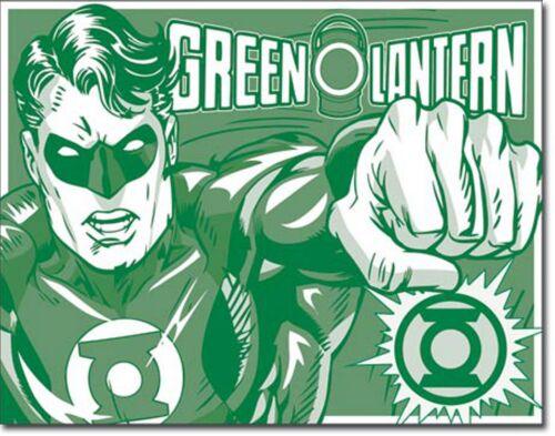 Grande lanterne verte glacoide DC Comic Poster Rétro Vintage métal signes 1733