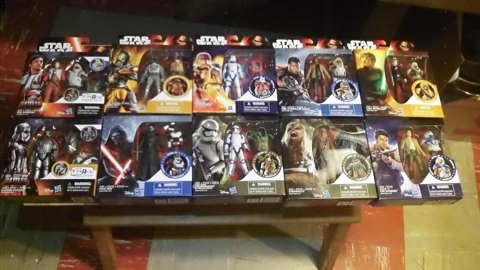 Star Wars Force Awakens Epic Battle with Armor Complete Set NEW