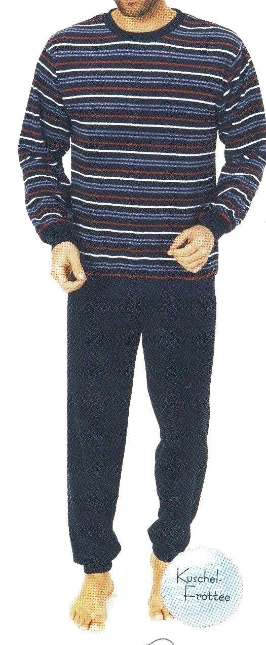 ... Schlafanzug - Pyjama ....mit Rundhals Ausschnitt...Gr  50 ...Kuschelfrottee