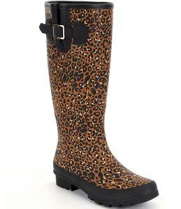 287b04346abf GIANNI BINI Women s SIZE 8 M Stormy-Dayz Rainboots Leopard Black NEW ...