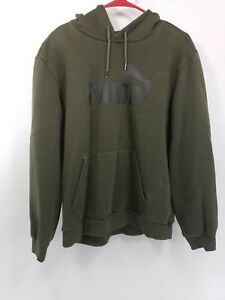 Mens-Olive-Green-Puma-Hoodie-size-large