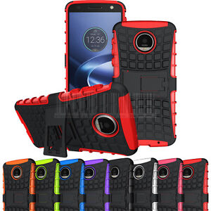 Shockproof-Hybrid-Rugged-Hard-Rubber-Case-Cover-For-Motorola-Moto-Z-Force-Droid