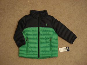 9df1f821f2d7 RALPH LAUREN  125 BOYS QUILTED DOWN JACKET Size-24 MONTHS NWT ...