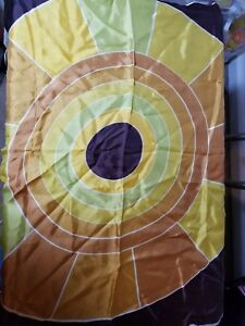 Vintage Brown Color Wheel Silk Scarf 100 Silk 26 X 26 Square Ebay