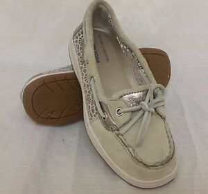 82f9f796ba6 New!!! Women s Skechers Relaxed Fit BUCCANEER ANCHORS AWAY Taupe ...