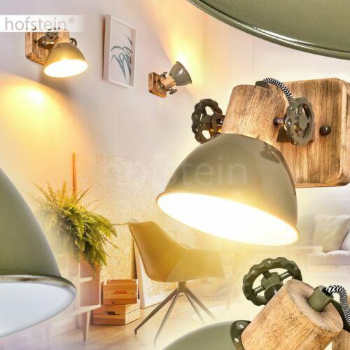 Decken Leuchten Wohn Schlaf Zimmer Lampen grün//Holz Flur Dielen Strahler Vintage