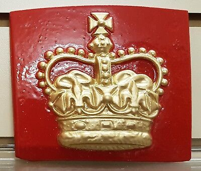 BOOTH KIOSK RED TELEPHONE BOX CAST OF THE CROWN OF SCOTLAND OF A K6
