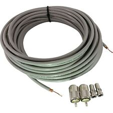 TRAM RG8X 95% SHIELDED 50FT COAX CABLE,AMPHENOL PL259'S, UG176 CB,HAM,SCANNER