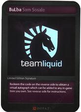 Dota 2 Limited Edition Signature 2014 Team Liquid BuLba Sam Sosale (Card + Code)