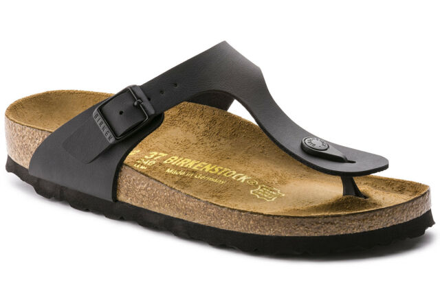 L8m5 R Black Birko-flor Thong Sandals