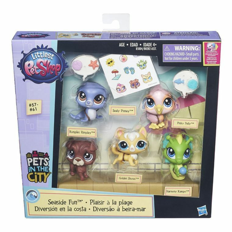 Littlest pet shop Seaside Fun 5 pets UK SELLER - RARE