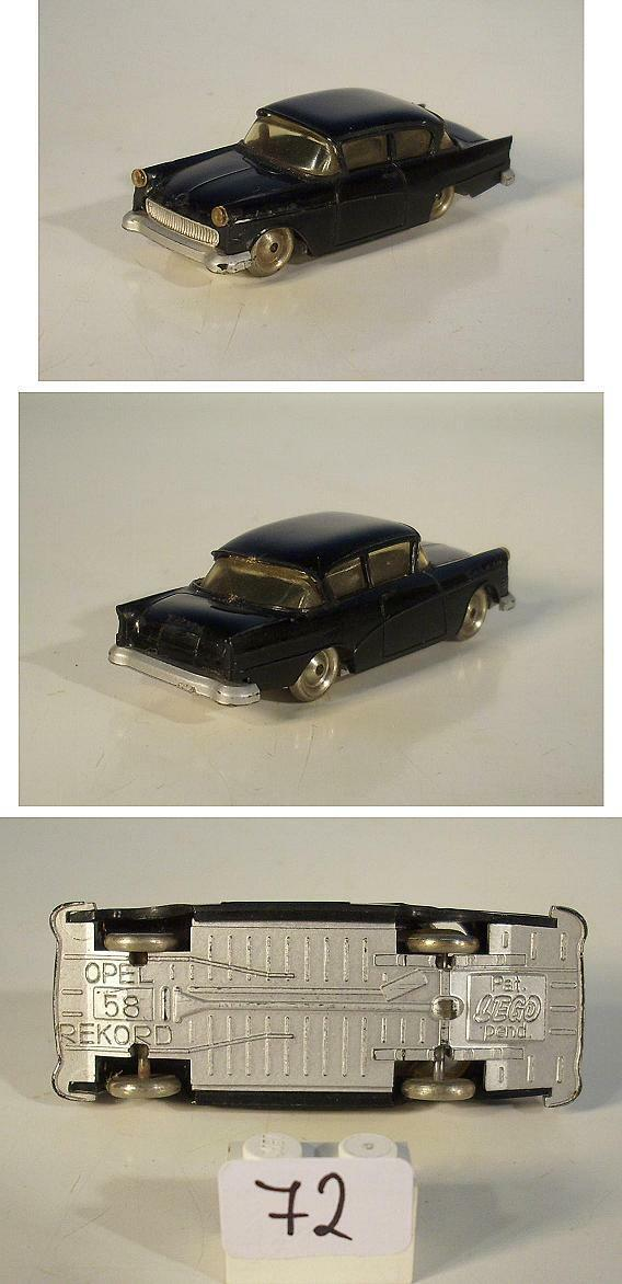 Lego 1 87 Opel Rekord 1958 schwarz 60er Jh.  72