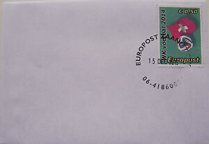 Stadspost-Europost-2013-FDC-WK-2014-Voetbal-Football-Zwitserland