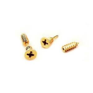 Men/'s Silver Stainless Steel 3D Cross Screw Piercing Plug Earring Ear Studs