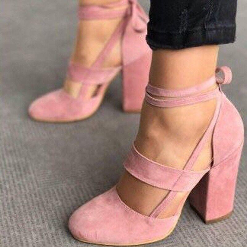 l'orteil de style européen nubuck pompes les chaussures à à à talons hauts et cycle taille 35 - 42 121da7