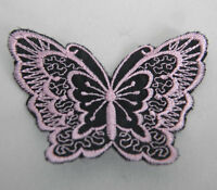 Butterfly Applique Sew or Iron on 8cm x 6cm Choose your colours