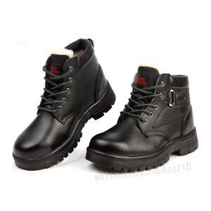 Women s Steel Toe Antislip Anti Puncture Work Safety Winter Warm ... 043dc24b3b
