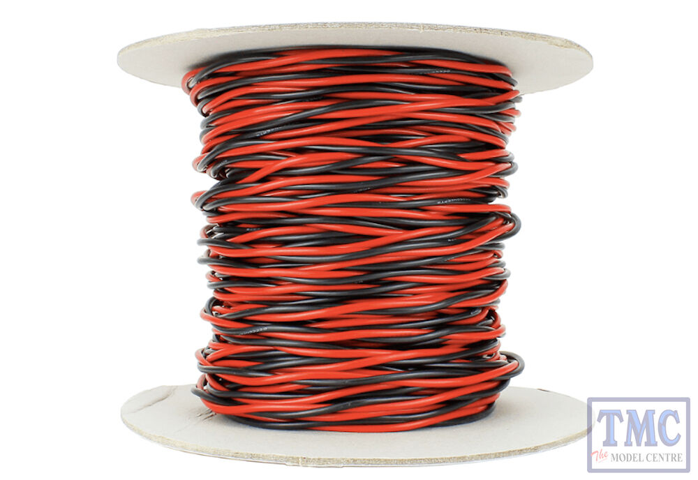 DCWTW501.5 DCC Concepts 50m of 1.5mm 15g Twin Twisted energia autobus Wire