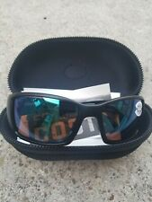 Costa Del Mar Blackfin Matte Black Frame Green Mirror 580G Glass Polarized Lens
