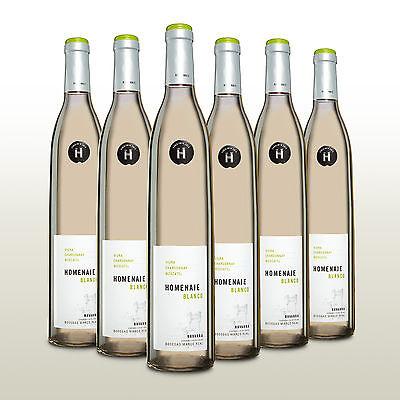 6 Fl. Homenaje Blanco 2016, Weißwein, trockener Wein Spanien - Vitale Frische!