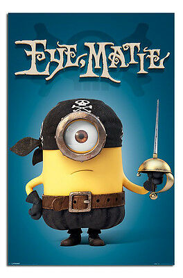 Maxi Size 36 x 24 Inch Minions Eye Matie Pirate Official Poster New
