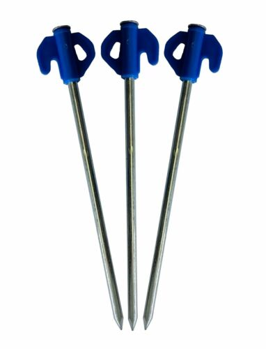 100 BLUE HARD GROUND CAMPING PEGS
