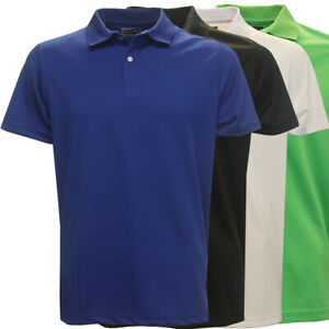 PGA Tour Men's Performance Solid Polo Golf Shirt,  Brand New