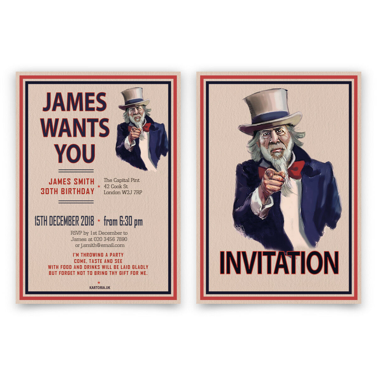 Birthday Invitation Cards Invites Personalised A6 148x105mm You I